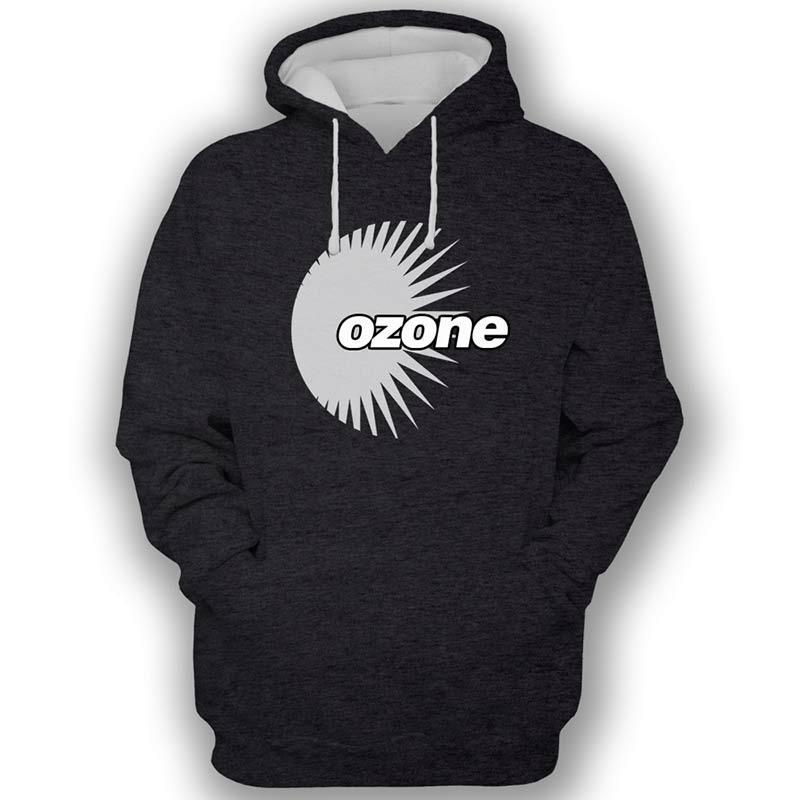 Ozone Recordings Hoodie - Black With Grey Logo