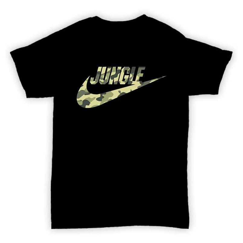Hardcore Junglism - Tee001 - Jungle Air - Black T-Shirt