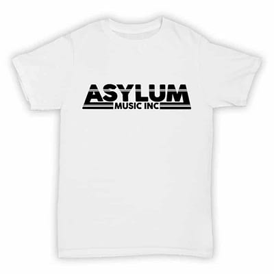 Asylum Music Inc - Record Label T Shirt - White