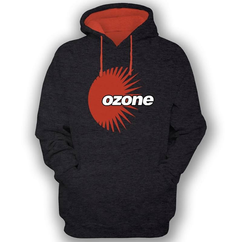 Ozone Recordings Hoodie - Black With Orange Logo
