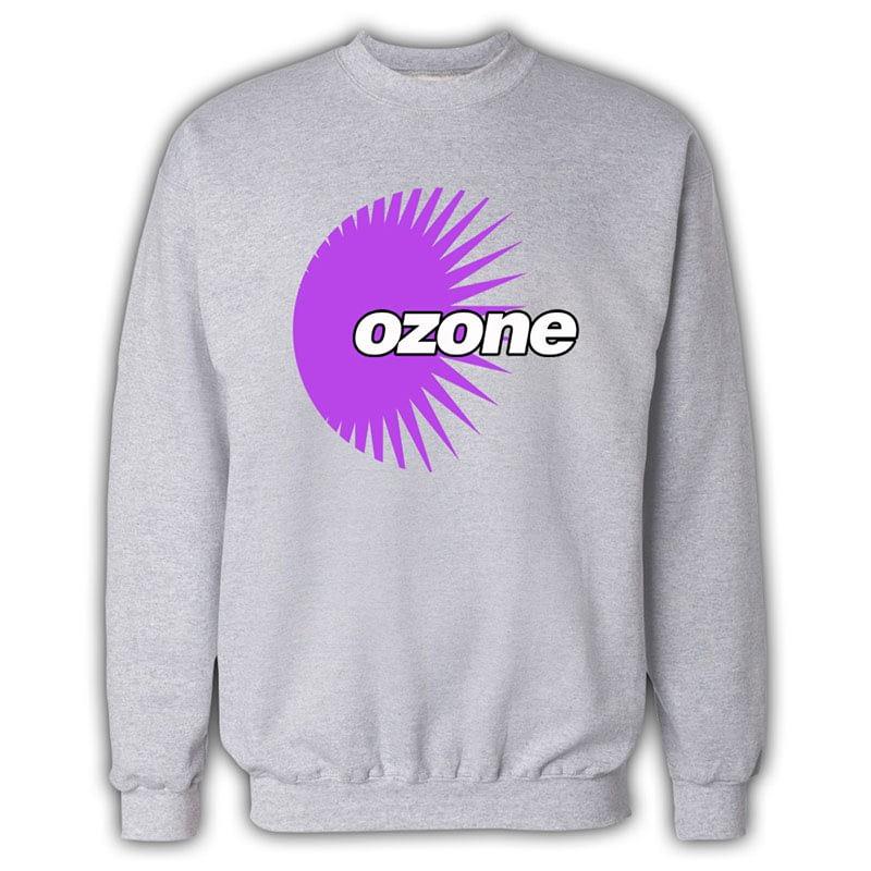 Ozone Recordings - Grey Sweatshirt With Purple Logo
