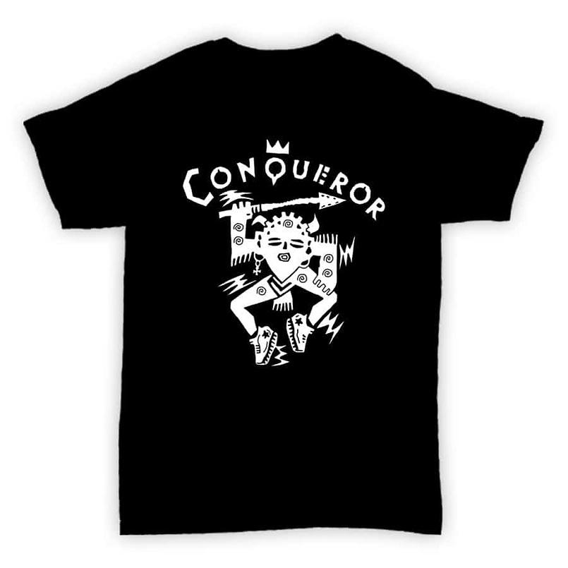 HJLabel T Conqueror Black MOCK 805x805 - T Shirt - Conqueror Records