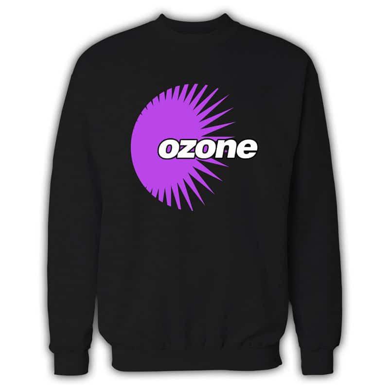 Ozone Recordings - Black Sweatshirt With Purple Logo