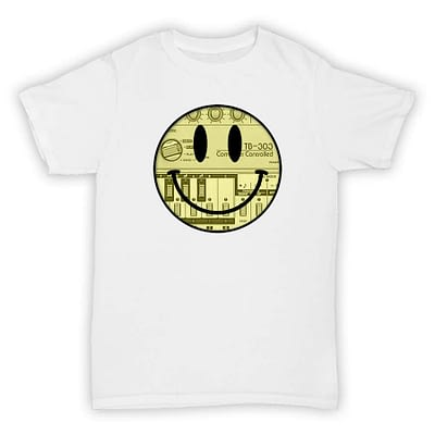 Hardcore Junglism T Shirt - Acid Smiley Face 303 - White