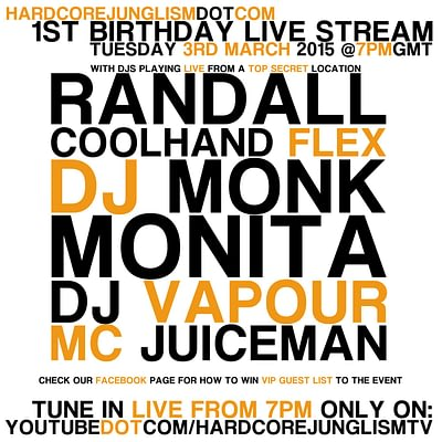 1st Birthday Sqaure flyer 400x400 - 1ST Birthday Recordings now uploaded for Stream and Download