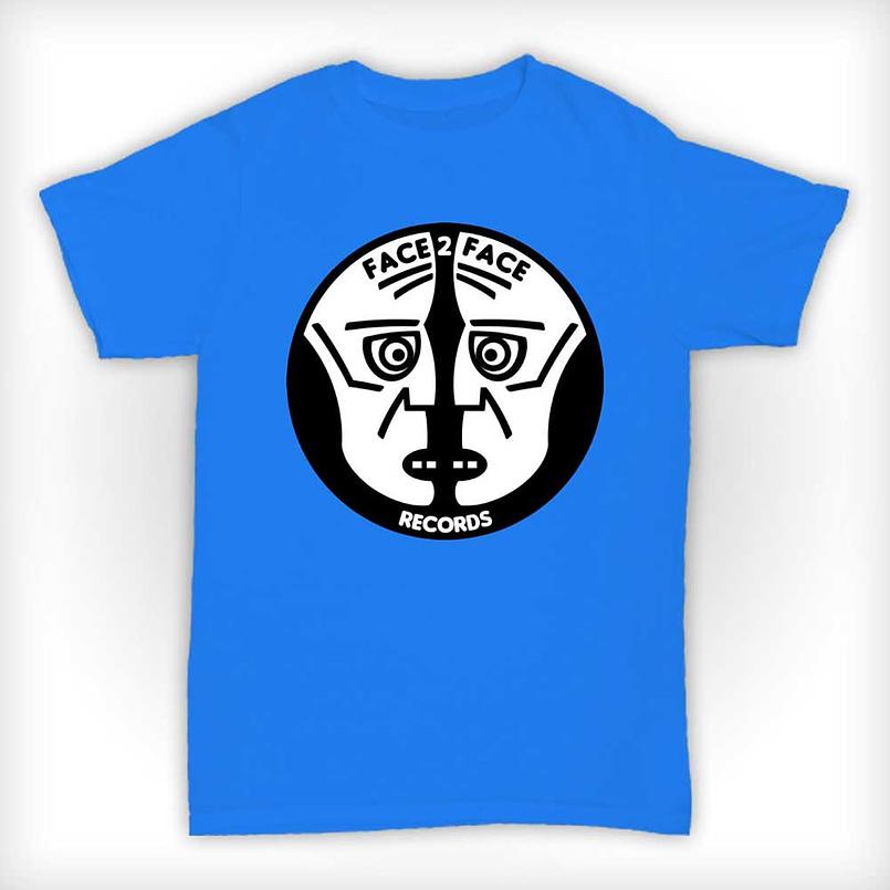 Face 2 Face Records T Shirt - Blue