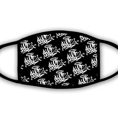 DJ Crystl Patterned Logo Printed Face Mask