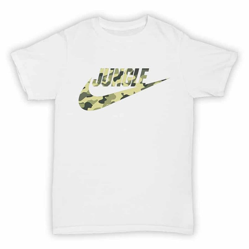 Hardcore Junglism - Tee001 - Jungle Air - White T-Shirt