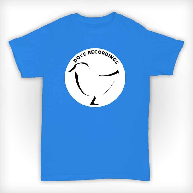 Dove Recordings - Old Skool Record Label T Shirt In Blue