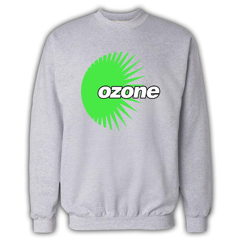 Ozone Recordings - Grey Sweatshirt With Green Logo