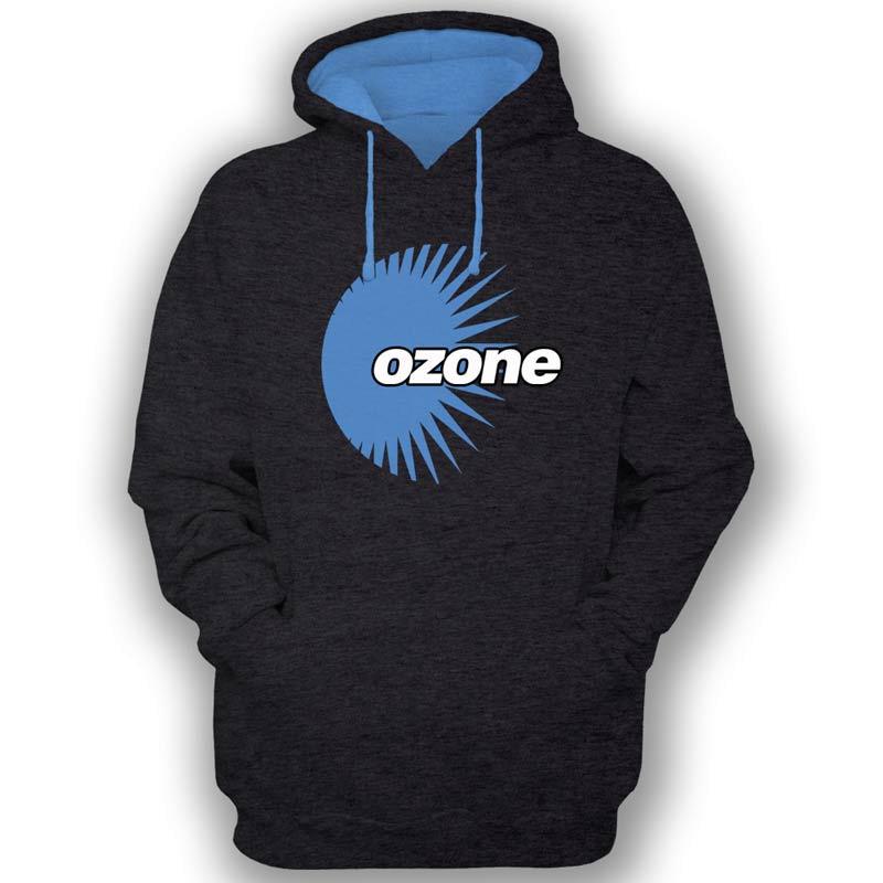 Ozone Recordings Hoodie - Black With Blue Logo