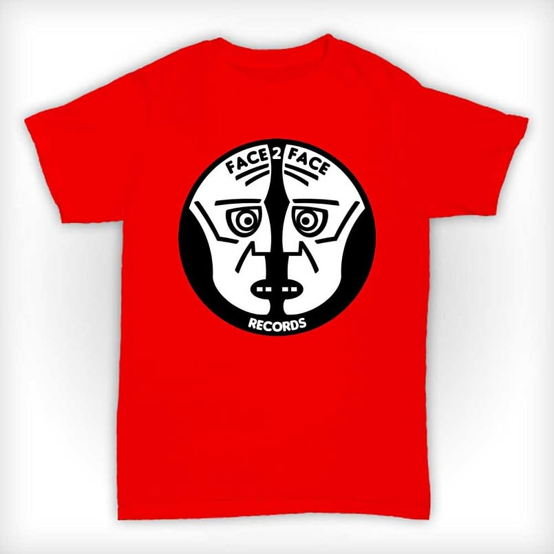 Face 2 Face Records T Shirt - Red