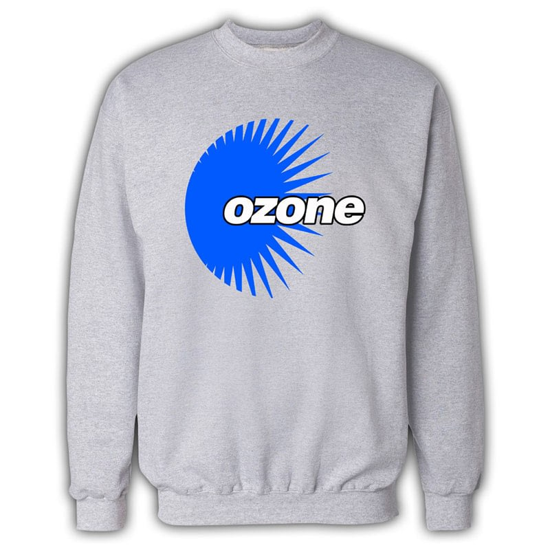 Ozone Recordings - Grey Sweatshirt With Blue Logo