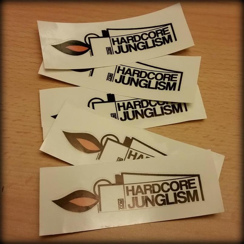 Hardcore Junglism Stickers - 5 Pack