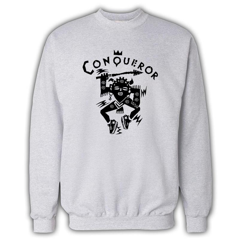 Conqueror White Sweatshirt 805x805 - Conqueror Records Sweatshirt