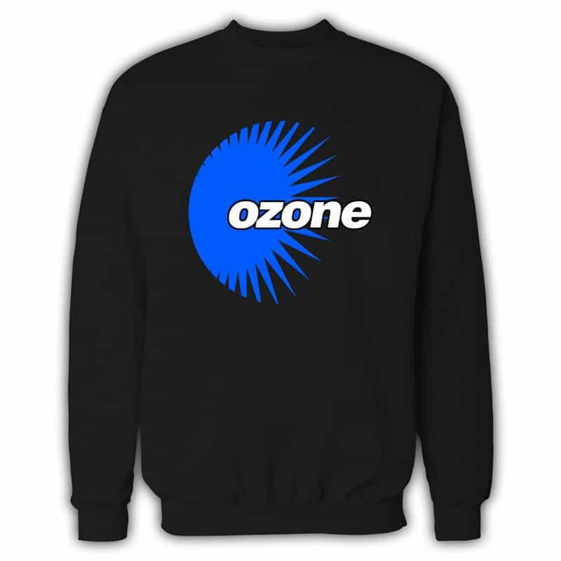 Ozone Recordings - Black Sweatshirt With Blue Logo