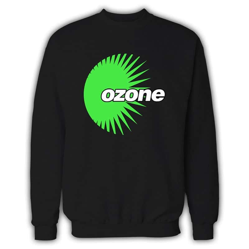 Ozone Recordings - Black Sweatshirt With Green Logo
